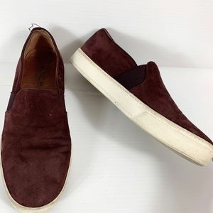 Vince Loafer Women's Size 8 Suede Leather Burgundy